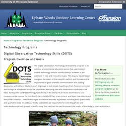 Technology Programs – Upham Woods Outdoor Learning Center