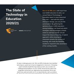 The State of Technology in Education Report 2020/21 - Promethean