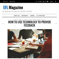 How To Use Technology To Provide Feedback