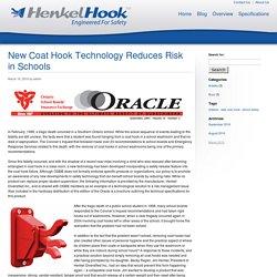New Coat Hook Technology Reduces Risk in Schools - HenkelHook HenkelHook
