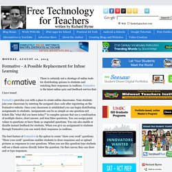 Formative - A Possible Replacement for Infuse Learning