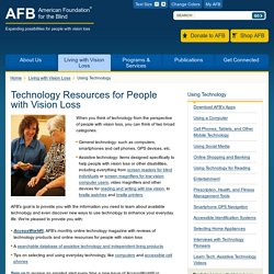 Technology Resources for People with Vision Loss