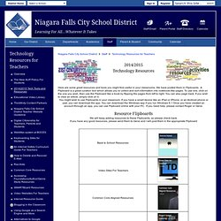 Technology Resources for Teachers / 2014/2015 Technology Resources