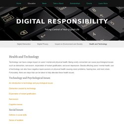 Health and Technology — Digital Responsibility