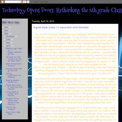 Technology to support book clubs with Edmodo