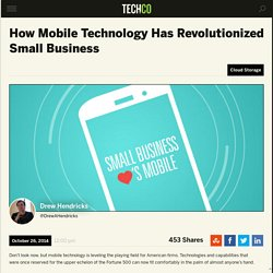 How Mobile Technology Has Revolutionized Small Business
