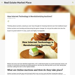 How Internet Technology is Revolutionizing Auctions?