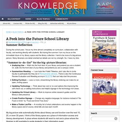 A Peek into the technology-rich School Library Space of the future