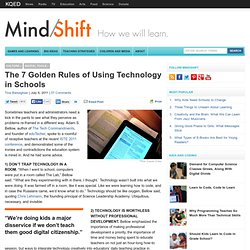 The 7 Golden Rules of Using Technology in Schools