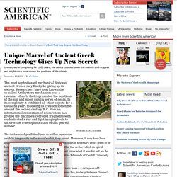 Unique Marvel of Ancient Greek Technology Gives Up New Secrets