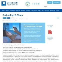 Technology & Sleep