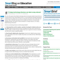10 steps technology directors can take to stay relevant SmartBlogs