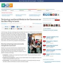 La technologie et les médias sociaux dans la salle de classe sont la nouvelle façon de savoir - Business 2 Communauté