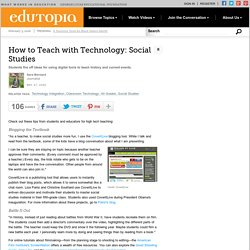 How to Teach with Technology: Social Studies