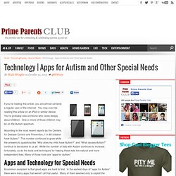 Apps for Autism and Other Special Needs - Prime Parents Club