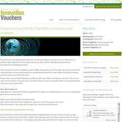 Data Voucher - Technology Strategy Board Innovation Vouchers