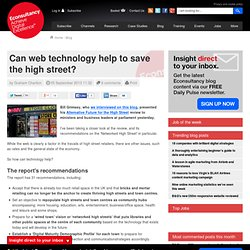 Can web technology help to save the high street?