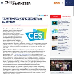 10 CES Technology Takeaways for Marketers