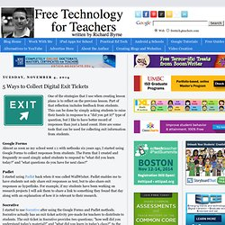 5 Ways to Collect Digital Exit Tickets