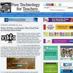 Wideo, WeVideo, and Magisto - 3 bons outils de création vidéo