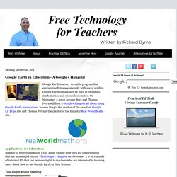 Google Earth in Education - A Google+ Hangout