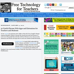 10 Useful Chrome Web Apps and Extensions for Teachers and Students