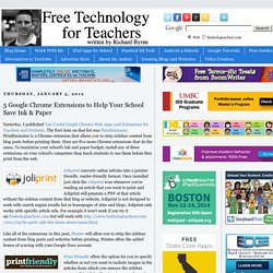 5 Google Chrome Extensions to Help Your School Save Ink & Paper