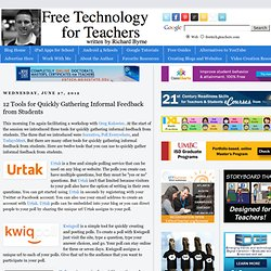 12 Tools for Quickly Gathering Informal Feedback from Students