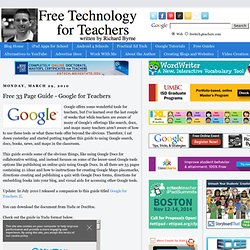Free 33 Page Guide - Google for Te