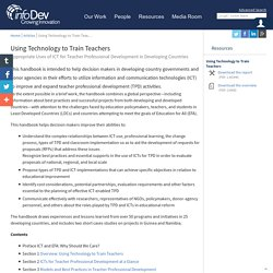 Using Technology to Train Teachers