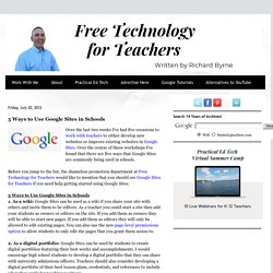 5 Ways to Use Google Sites in Schools