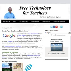 Google Apps K-12 Lesson Plan Selector