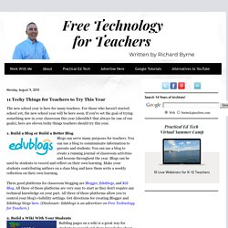 11 Techy Things for Teachers to Try This Year