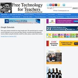 Tecnologia livre para os professores: Tutoriais do Google