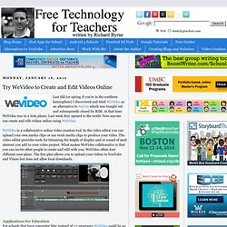 Try WeVideo to Create and Edit Videos Online