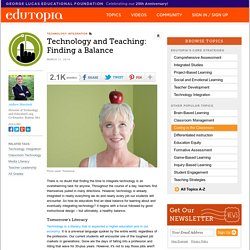 Technology and Teaching: Finding a Balance