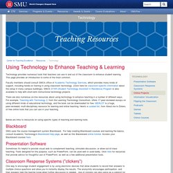 Using Technology to Enhance Teaching & Learning - SMU