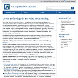 Use of Technology in Teaching and Learning