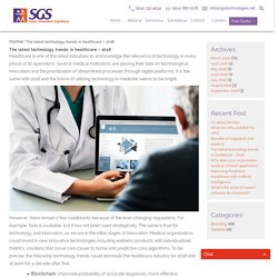 The latest technology trends in healthcare – 2018