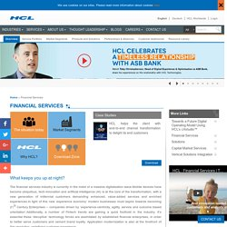 Get Best Financial Services by HCL Technologies