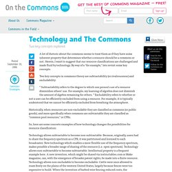 Technology and The Commons