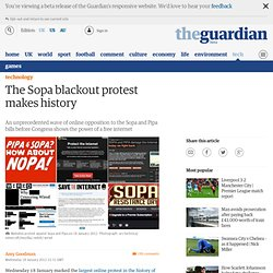 The Sopa blackout protest makes history | Amy Goodman | Comment is free
