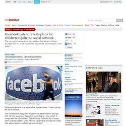 Facebook patent reveals plans for children to join the social network