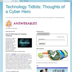 Thoughts of a Cyber Hero: Top 20 Sites-Apps for Creating Timelines