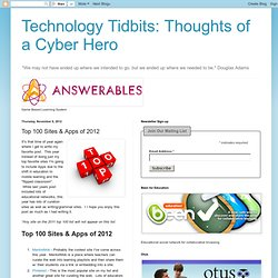 Technology Tidbits: Thoughts of a Cyber Hero: Top 100 Sites & Apps of 2012