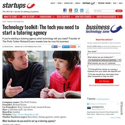 Technology toolkit: The tech you need to start a tutoring agency