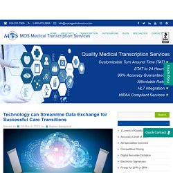 Technology can Streamline Data Exchange for Successful Care Transitions