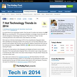 7 Hot Technology Trends in 2014 (AAPL)