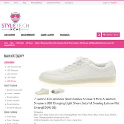 7 Colors LED Luminous Shoes Unisex Sneakers Men & Women Sneakers USB Charging Light Shoes Colorful Glowing Leisure Flat Shoes(5D(M) US)