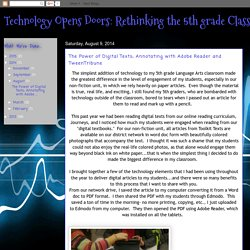 The Power of Digital Texts; Annotating with Adobe Reader and TweenTribune